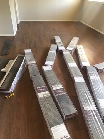 Cases of flooring